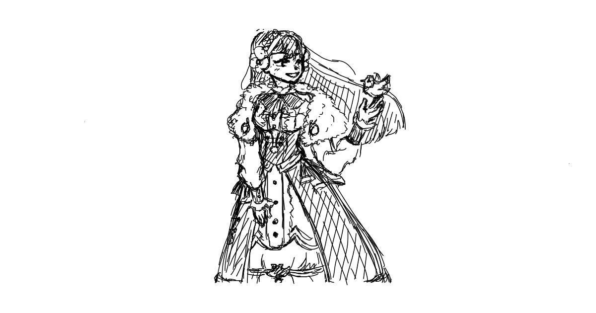 Dress drawing by moris
