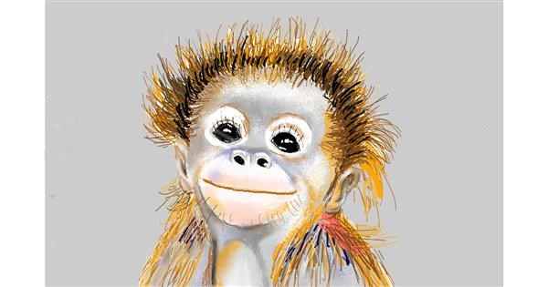 monkey drawing by GJP