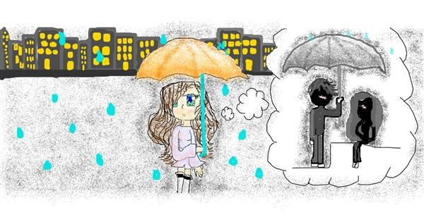 Umbrella drawing by coconut