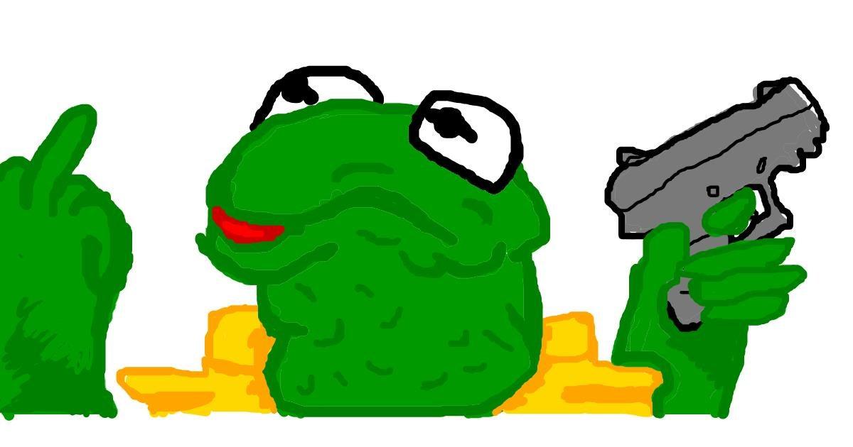 Drawing of Frog by ʕง•ᴥ•ʔง  ฅ(^・ω・^ฅ)