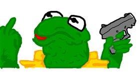 Frog drawing by ʕง•ᴥ•ʔง  ฅ(^・ω・^ฅ)