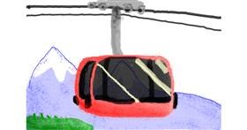 Cable car drawing by Blueberrycheezcake