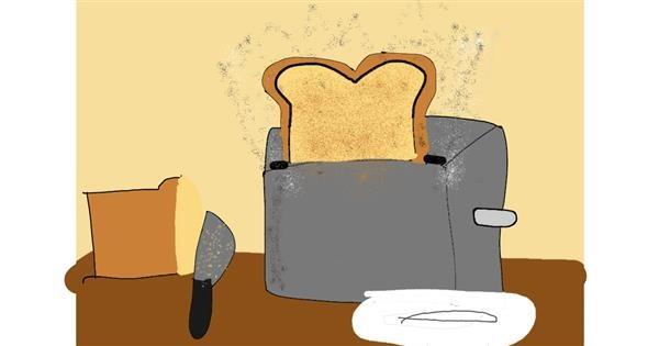 Bread drawing by Xxkawaii_PandaxX