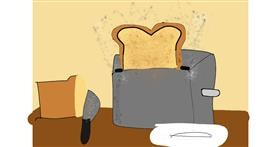 Drawing of Bread by Xxkawaii_PandaxX