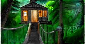 Treehouse drawing by Soaring Sunshine