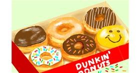 Donut drawing by GJP