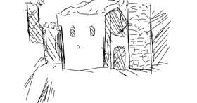 Drawing of Castle by deery
