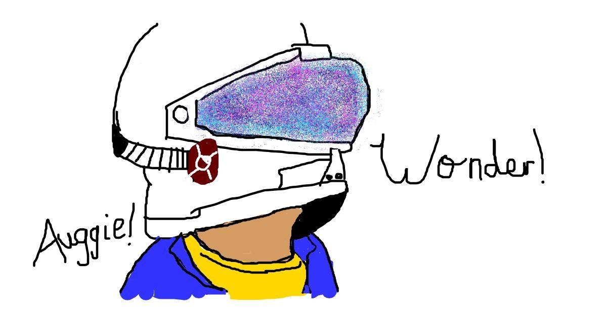 Astronaut drawing by KawaiiDoggy