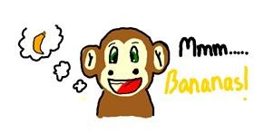 Monkey drawing by bob