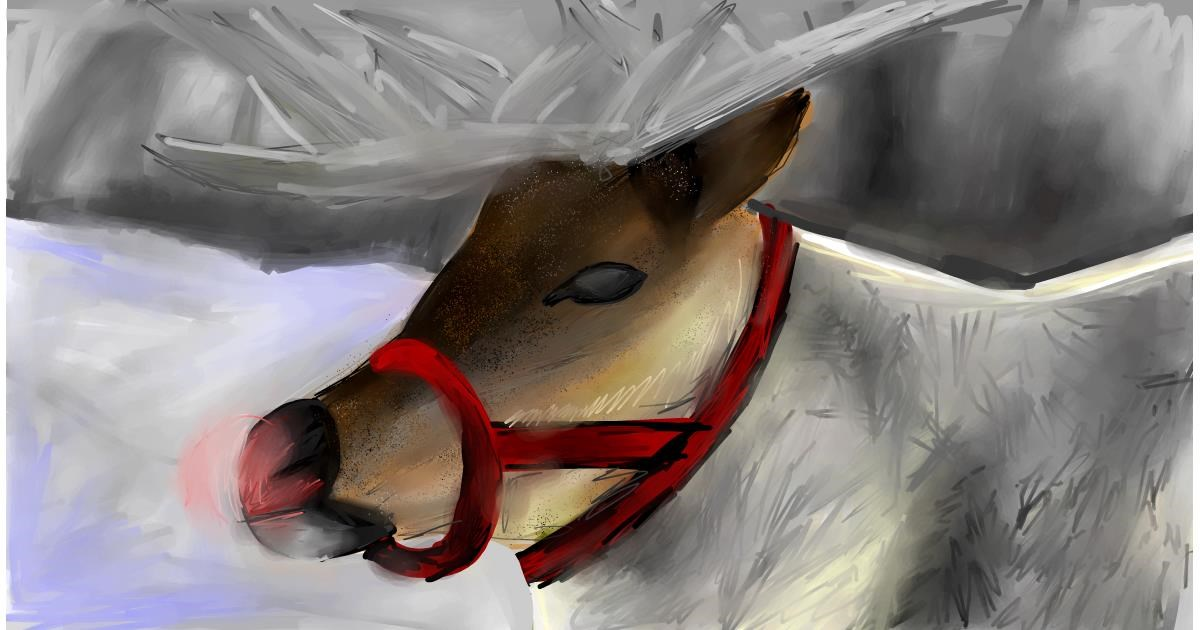 Drawing of Reindeer by Soaring Sunshine
