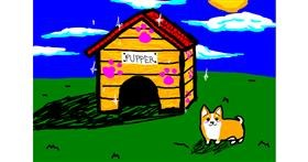 Dog house drawing by SaladAss