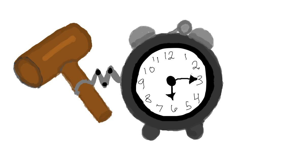 Alarm clock drawing by Trapdoor
