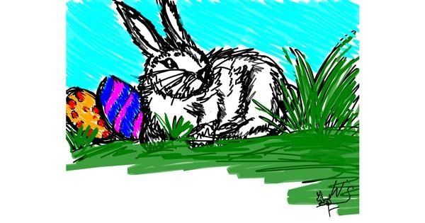 Easter egg drawing by Wiktoria