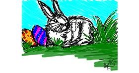 Drawing of Easter egg by Wiktoria