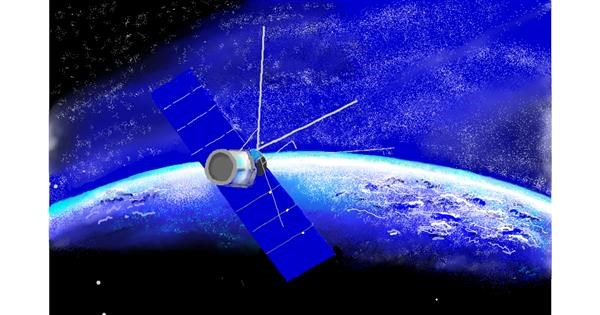 Satellite drawing by GJP