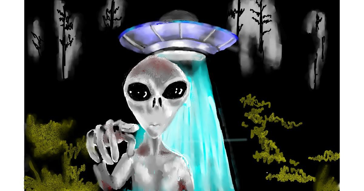 Alien drawing by SAM AKA MARGARET 🙄