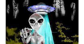 Drawing of Alien by SAM AKA MARGARET 🙄