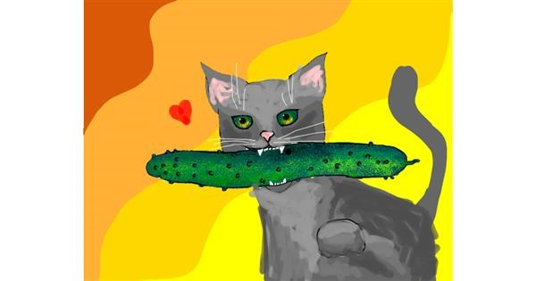 Cucumber drawing by Darta
