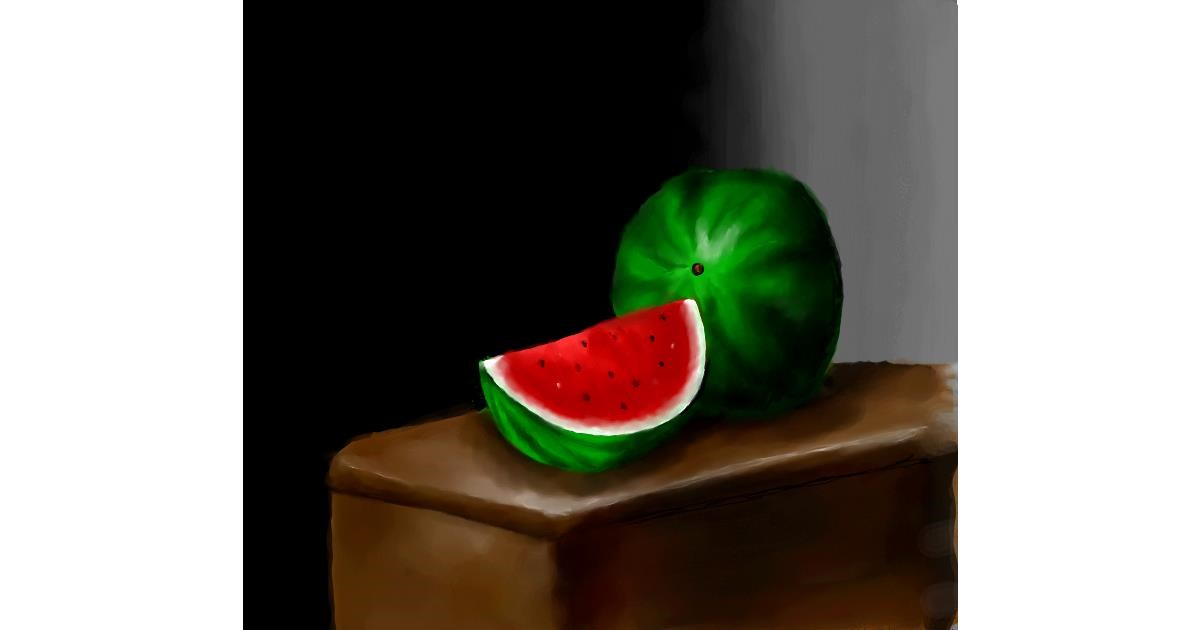 Watermelon drawing by JSim