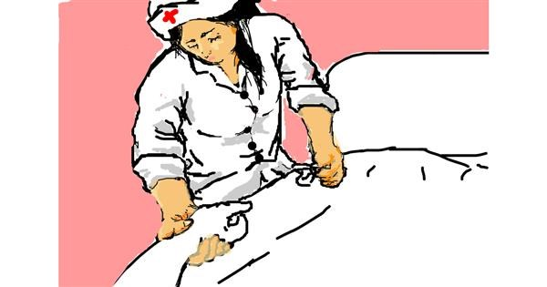 Nurse drawing by sinimaginacion