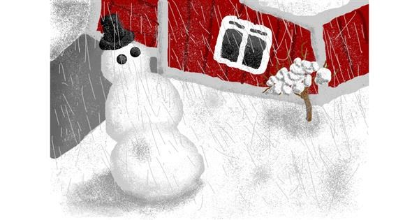 Snowman drawing by Jack536