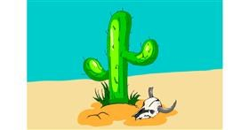 Cactus drawing by ThasMe13