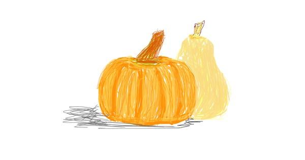 Pumpkin drawing by pInKy