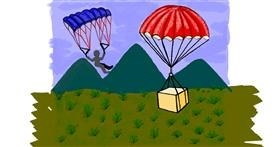 Parachute drawing by Ariaria