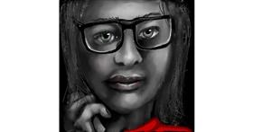 Drawing of Glasses by Leah