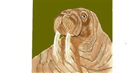Walrus drawing by GJP