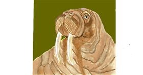 Drawing of Walrus by GJP