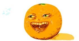 Drawing of Orange by Ded