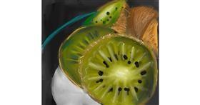 Kiwi fruit drawing by Ankita Sharma