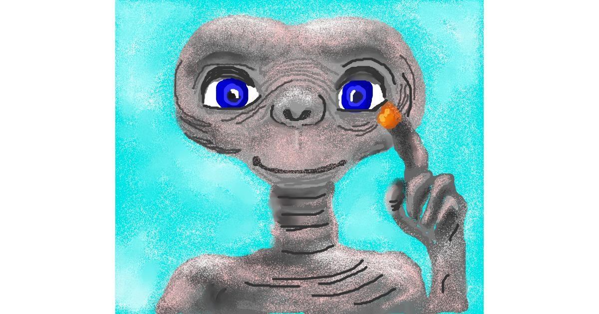 Alien drawing by MINNA