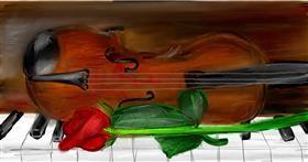 Drawing of Violin by Soaring Sunshine