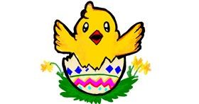 Easter chick drawing by Iris