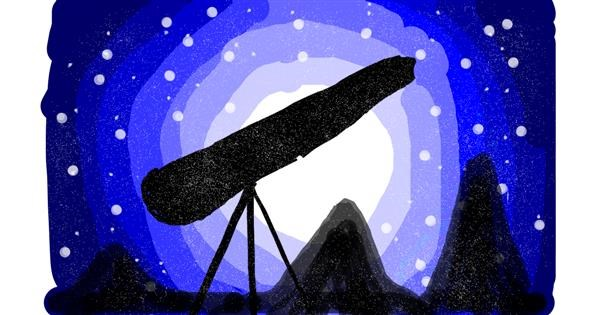 Telescope drawing by Kasturi