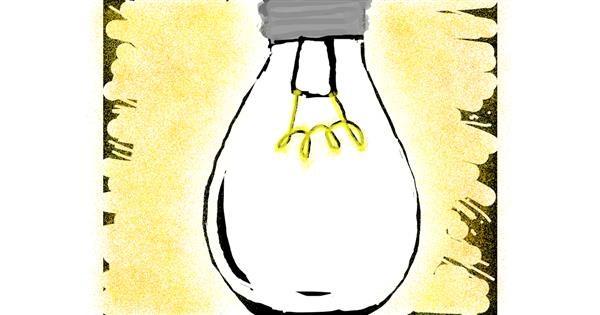Light bulb drawing by SofaKingGr8