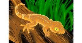 Lizard drawing by Kalina