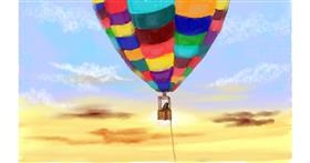 Drawing of Hot air balloon by Tim