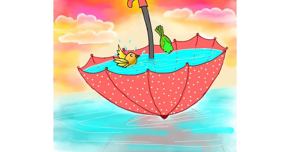 Drawing of Umbrella by Shalinee