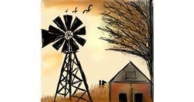 Drawing of Windmill by Zeemal