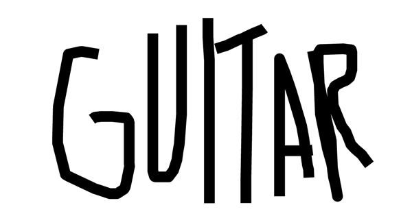 Guitar drawing by The incredible