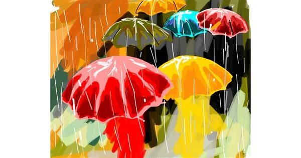 Umbrella drawing by Bro 2.0😎