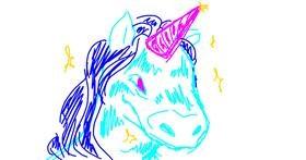 Unicorn drawing by kisa