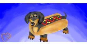 Drawing of Hotdog by GABABUNDO