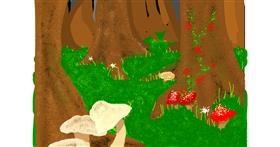 Drawing of Mushroom by Firebrace101