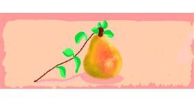 Pear drawing by Helena
