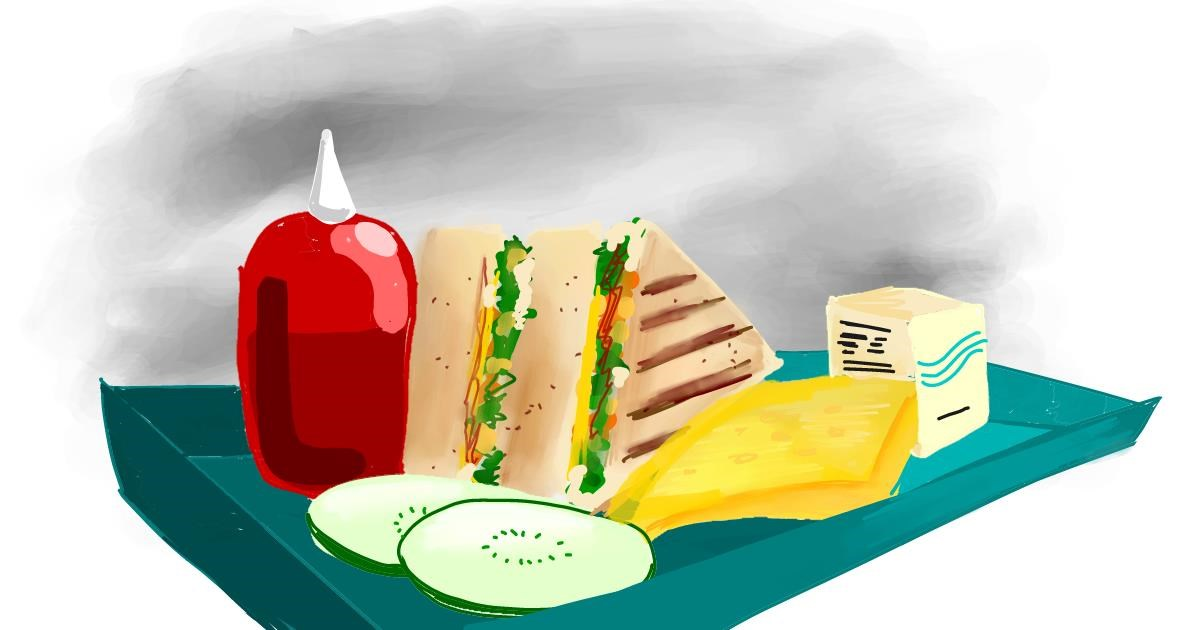 Drawing of Sandwich by Ryu