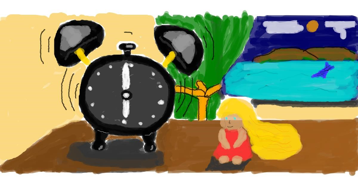 Alarm clock drawing by JAmile